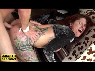 Redhead bdsm brit dominated with anal fucking