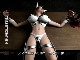 Hottie 3d hentai slave tied up