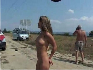 Public nude and piss blonde teen