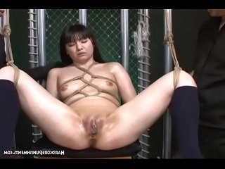 Ropes Binding Her Breasts This Asian Submissive Is Tormented By Multiple Vibrating Wands