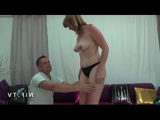 Casting couch of an Amateur chubby french milf sodomized and jizzed on tits