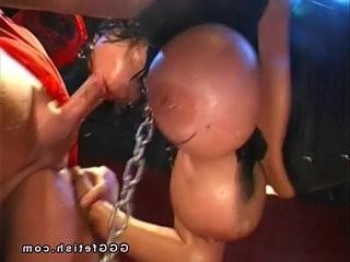 Big tits like a balls gets pissing