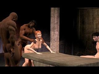 3D Animated Cuckold interracial FUCKING